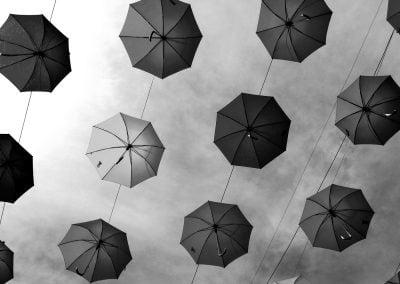 Umbrellas, Sweden | Ⓒ JCNicholson